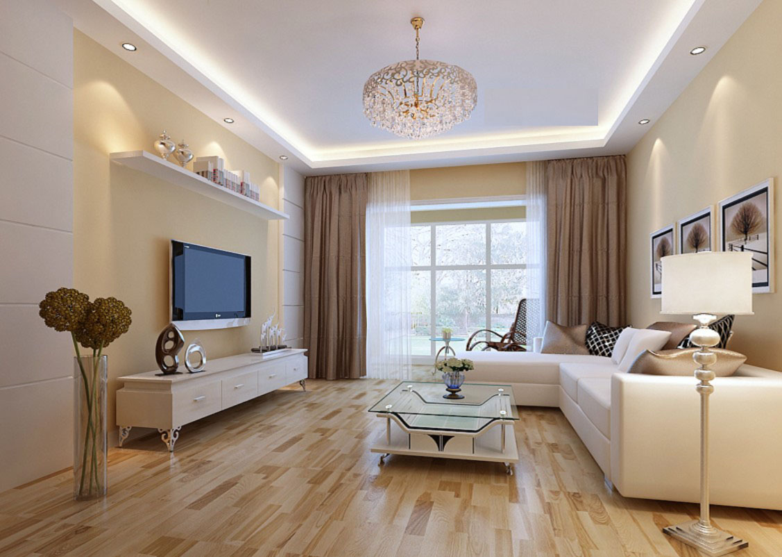 Image of: Beige Living Room Elegant