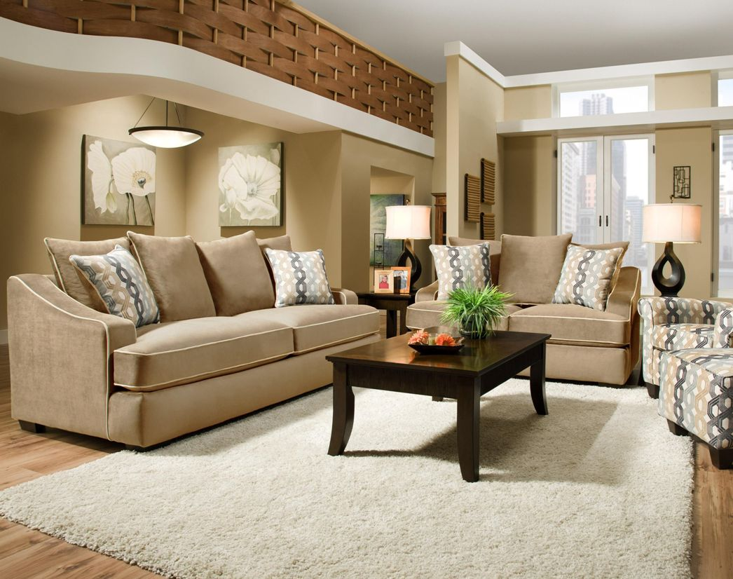 Image of: Beige Living Room Sofas