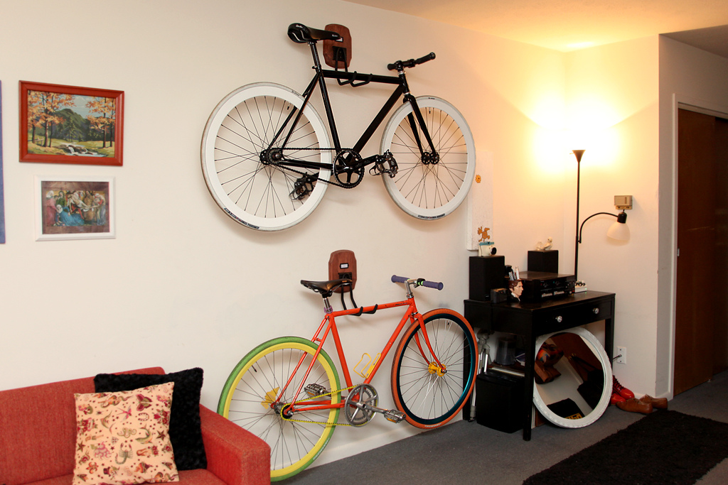Image of: Bike Storage Ideas Wall