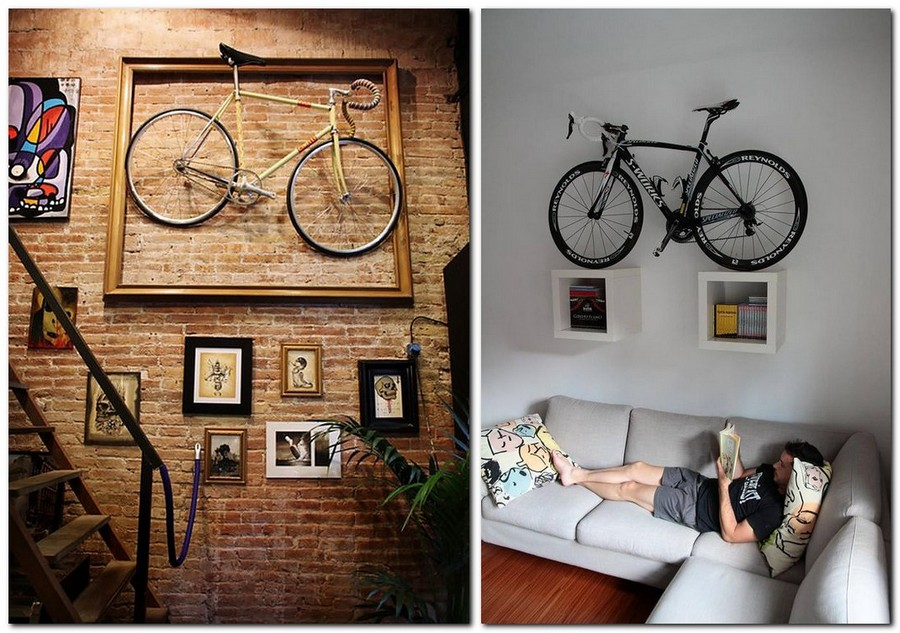 Image of: Bike Storage Ideas on Wall