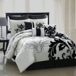 Black And White Bed Skirt Contemporary