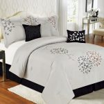 Black And White Bed Skirt Solid