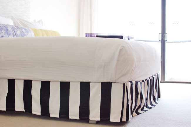 Image of: Black And White Bed Skirt