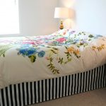 Black And White Striped Bed Skirt Beautiful