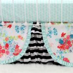 Black And White Striped Bed Skirt Combine