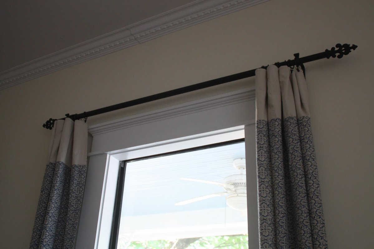 Image of: Black Curtain Rods Contemporary