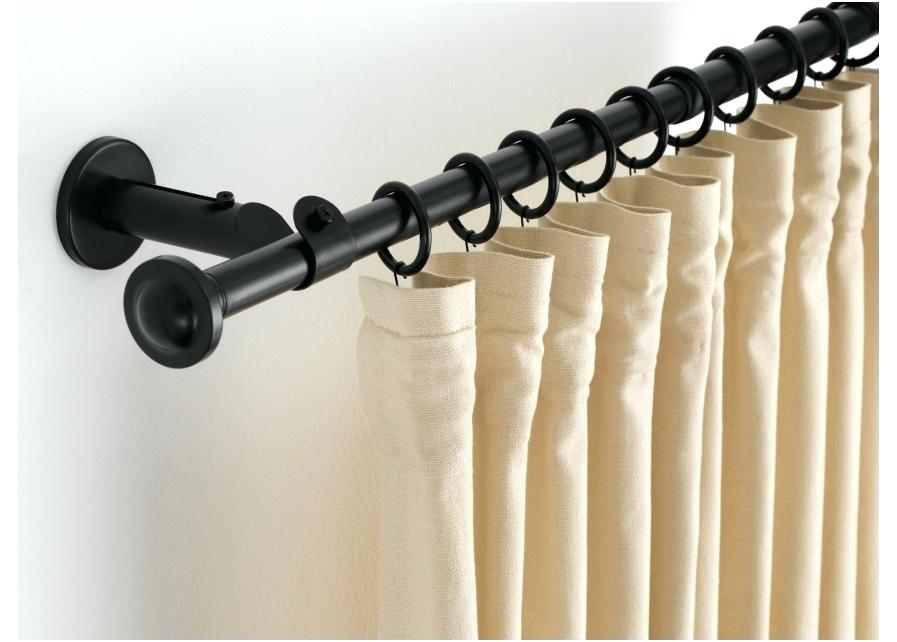 Image of: Black Curtain Rods Plastic