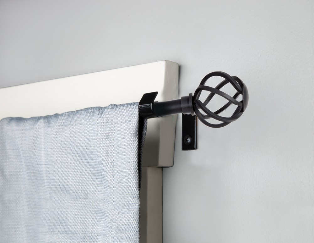 Image of: Black Curtain Rods Unique