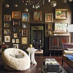Bohemian Style Living Room Brown