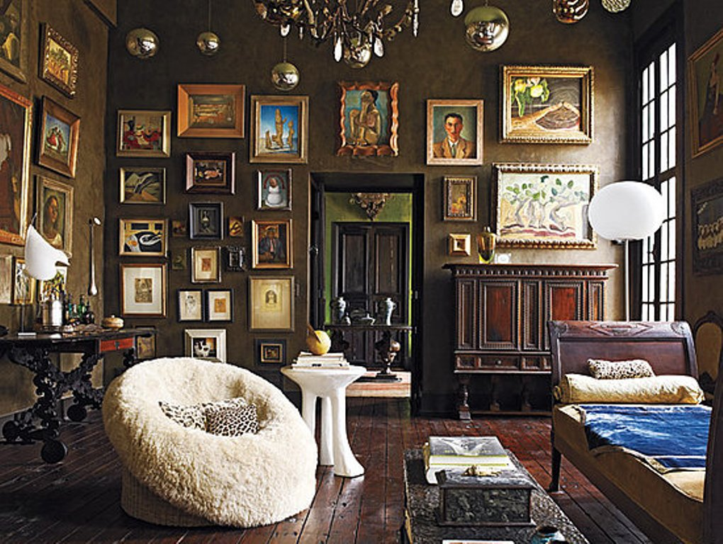 Image of: Bohemian Style Living Room Brown