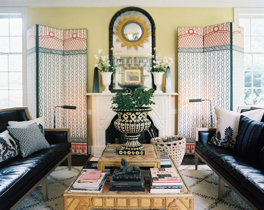 Image of: Bohemian Style Living Room Curtains