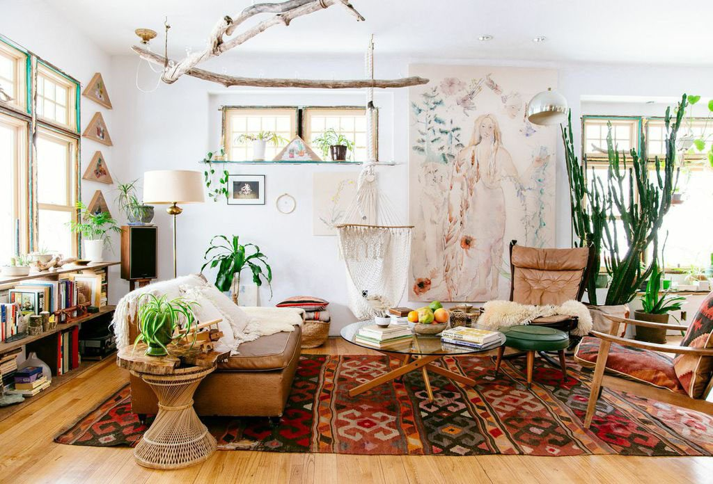Image of: Bohemian Style Living Room White