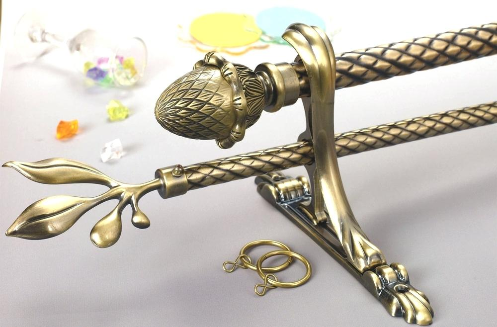 Image of: Brass Curtain Rods Design