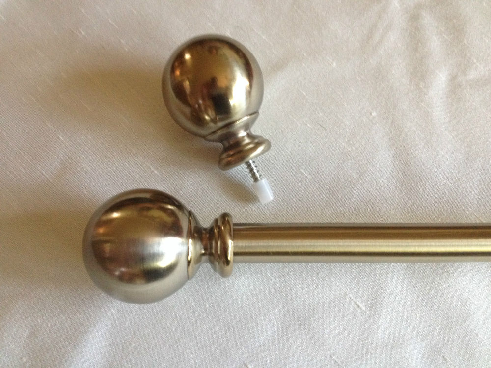 Image of: Brass Curtain Rods Unique