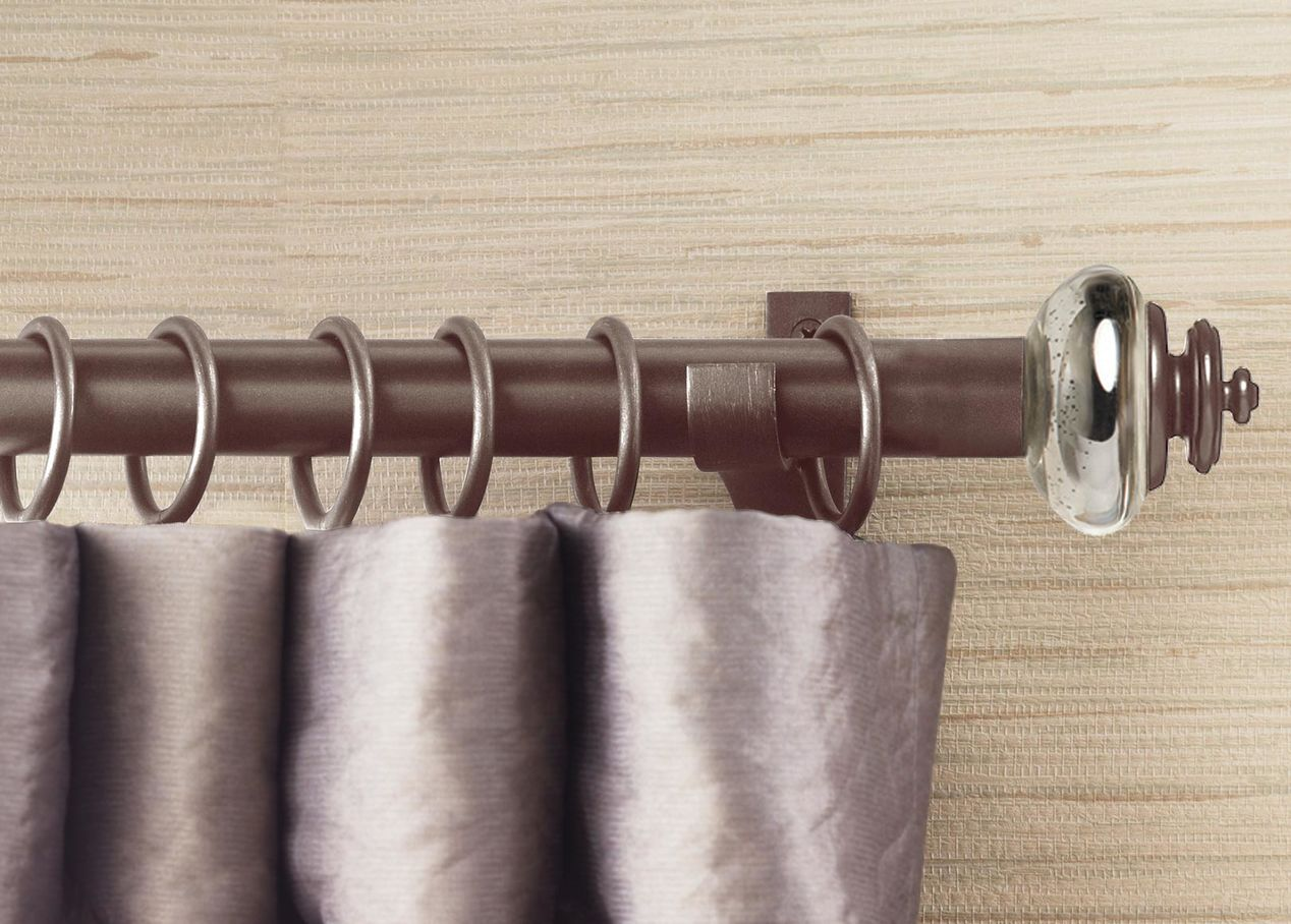 Image of: Bronze Curtain Rods Transitional