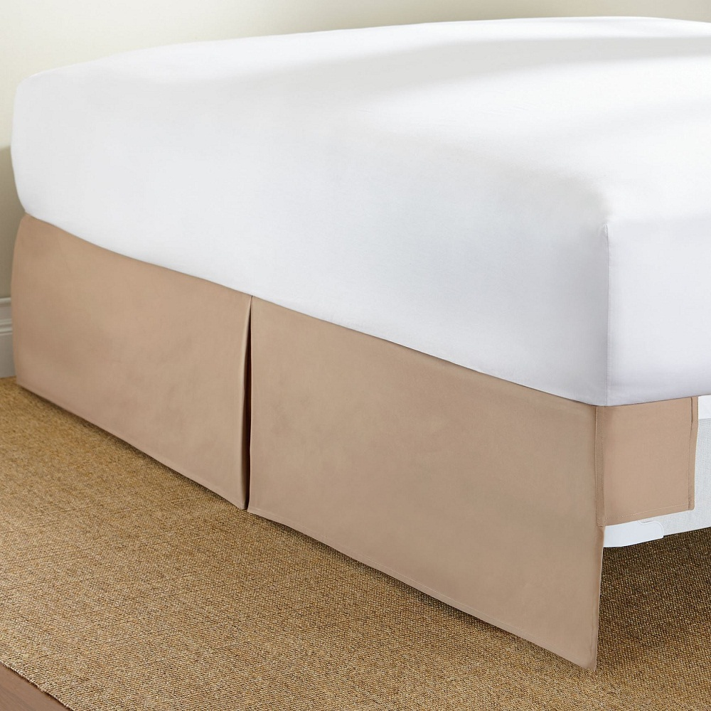 Image of: Brown Tailored Bed Skirt