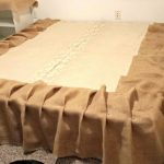 Burlap Bed Skirt Size