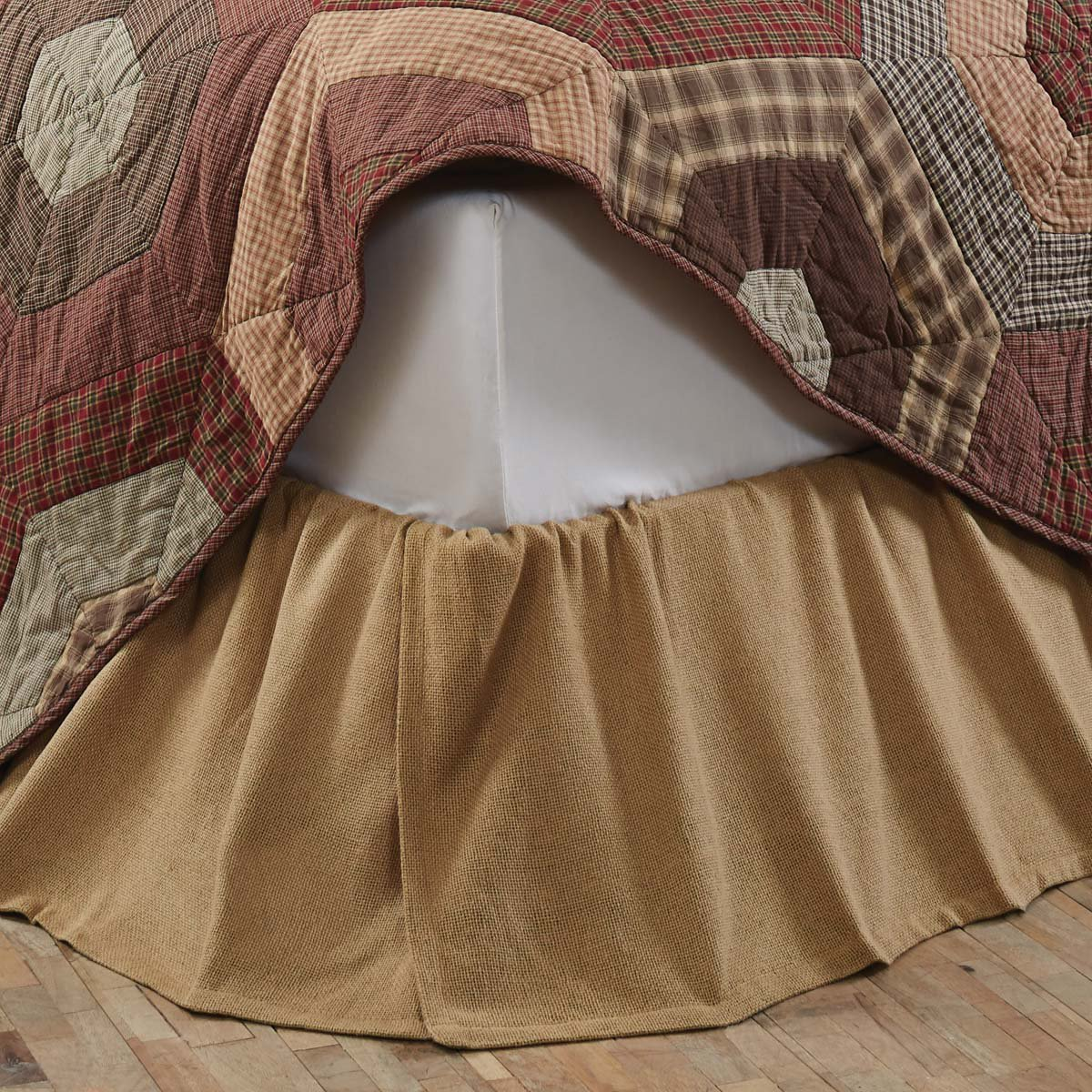 Image of: Burlap Bed Skirt Type