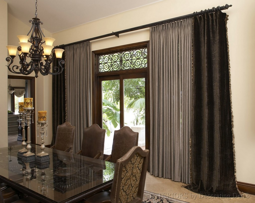 Image of: Cafe Curtain Rods Black