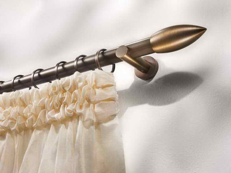 Image of: Cafe Curtain Rods Charming