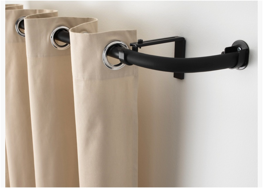 Image of: Cafe Curtain Rods Home