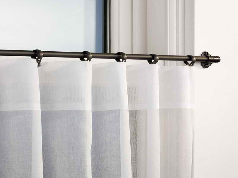 Image of: Cafe Curtain Rods Modern