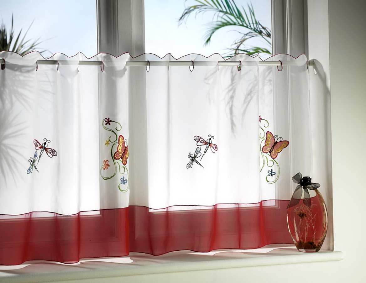 Image of: Cafe Curtain Rods Style