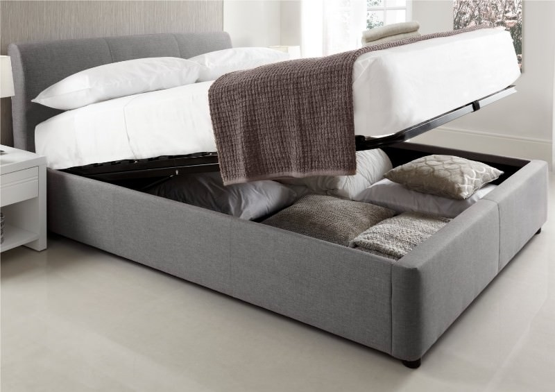 Image of: California King Bed Frame With Storage