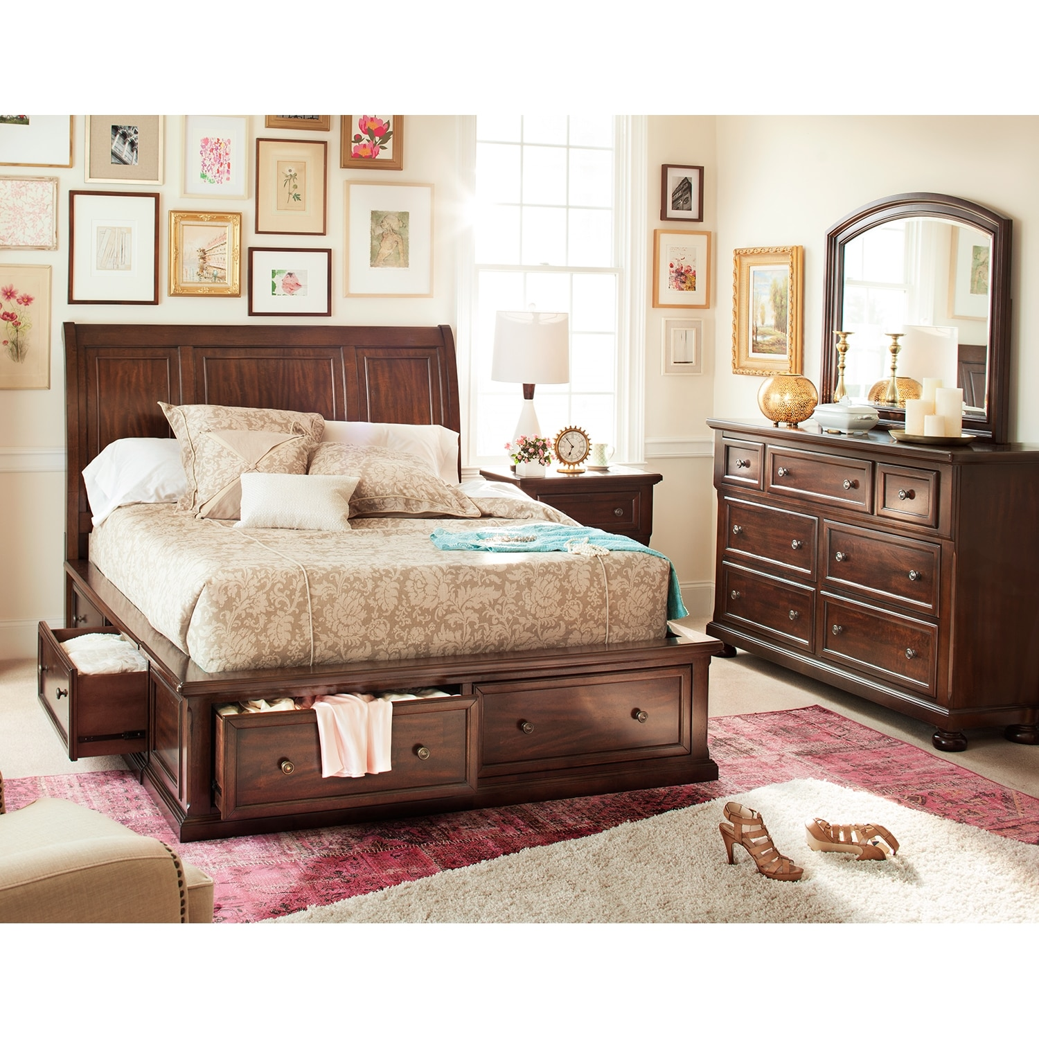 Image of: California King Storage Bed Ideas