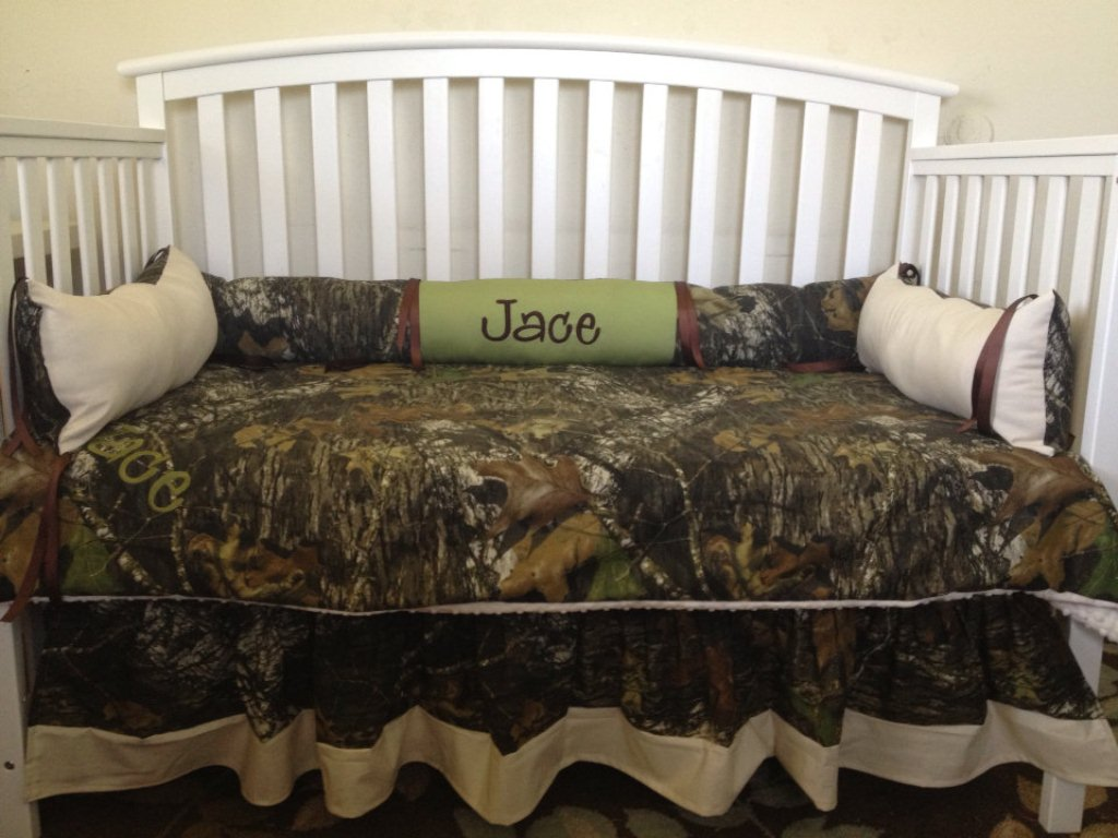 Image of: Camo Gold Bed Skirt