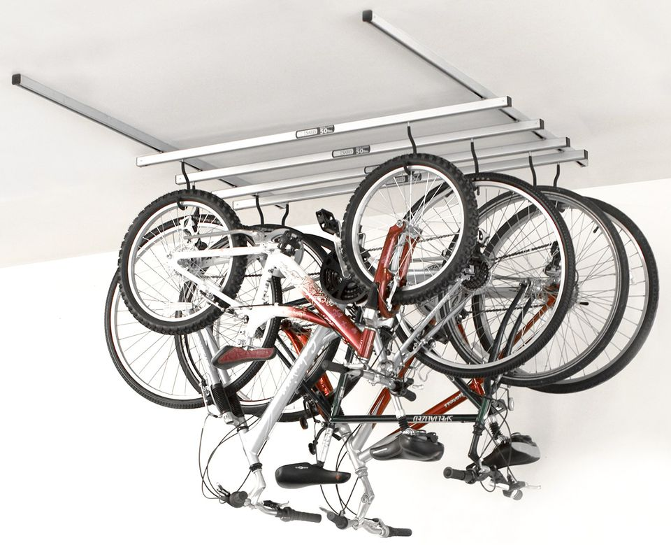 Image of: Ceiling Bicycle Storage Ideas