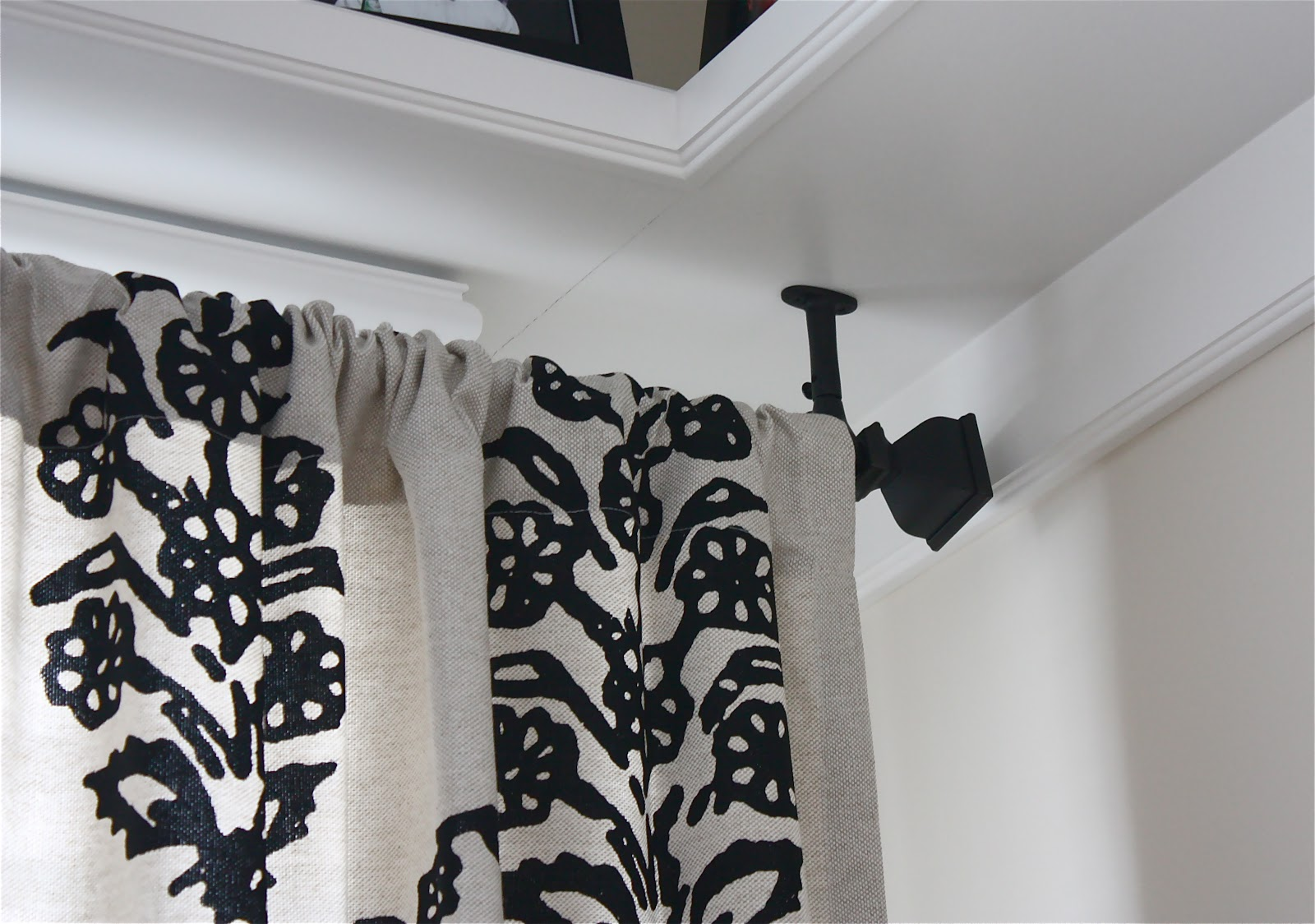 Ceiling Mount Curtain Rod Awesome