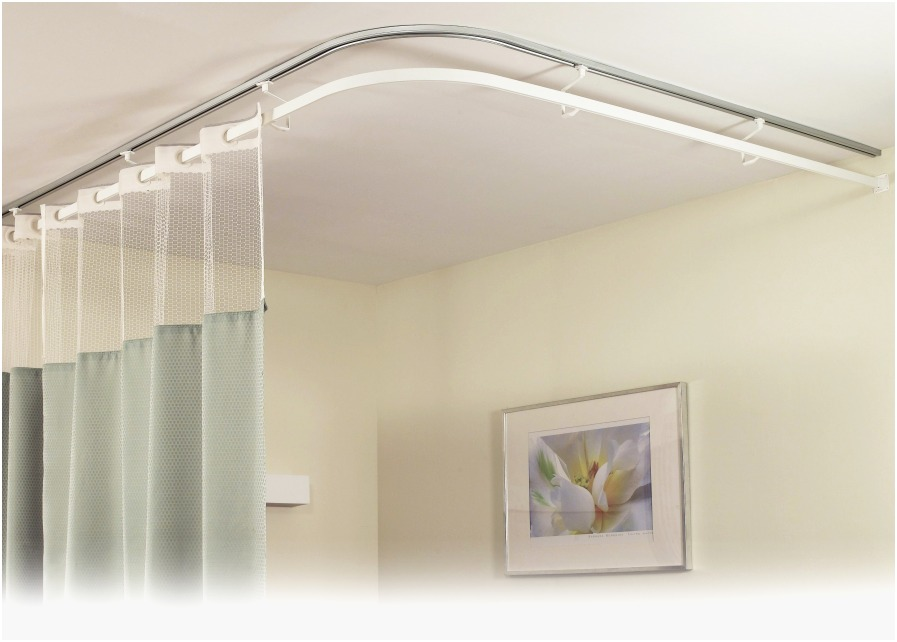 Image of: Ceiling Mount Curtain Rod Elegant