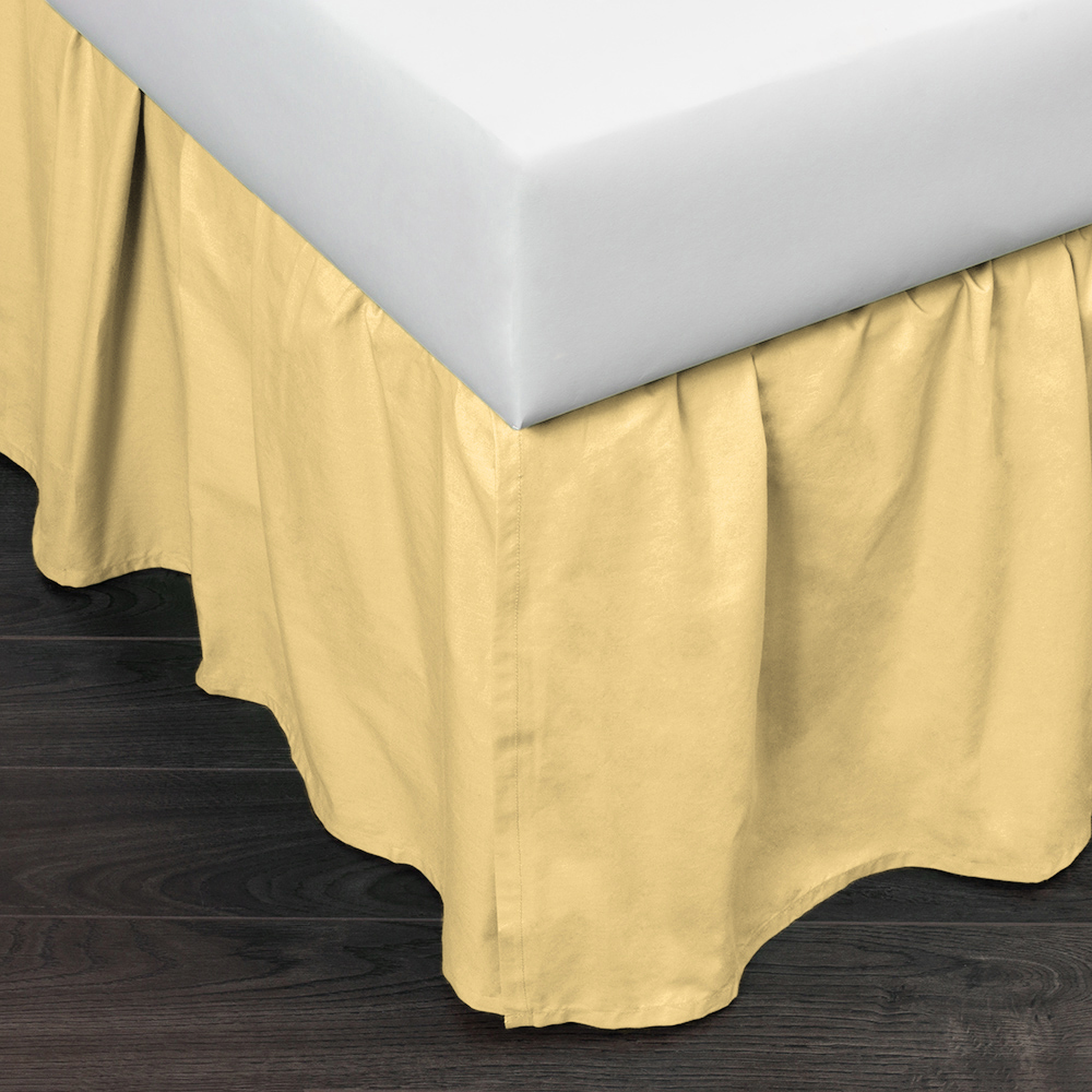 Image of: Cheap Yellow Bed Skirt