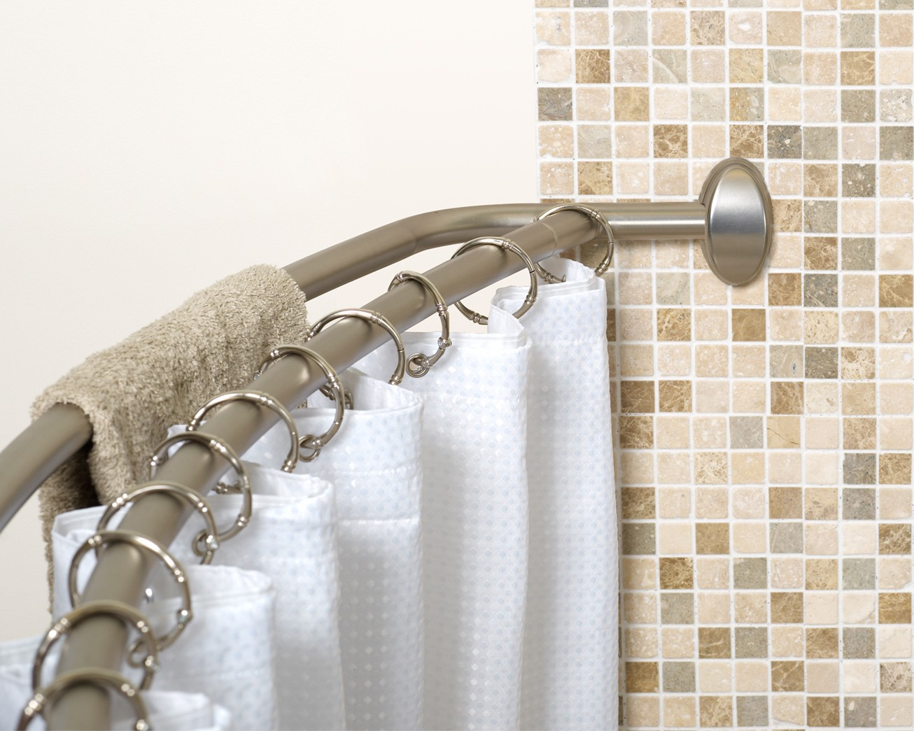 Image of: Circular Shower Curtain Rod Contemporary