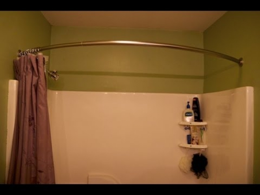 Image of: Circular Shower Curtain Rod Shower