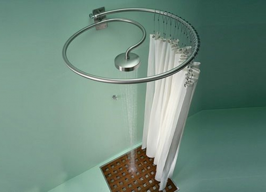 Image of: Circular Shower Curtain Rod Simple