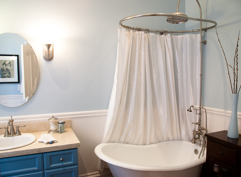 Image of: Circular Shower Curtain Rod White