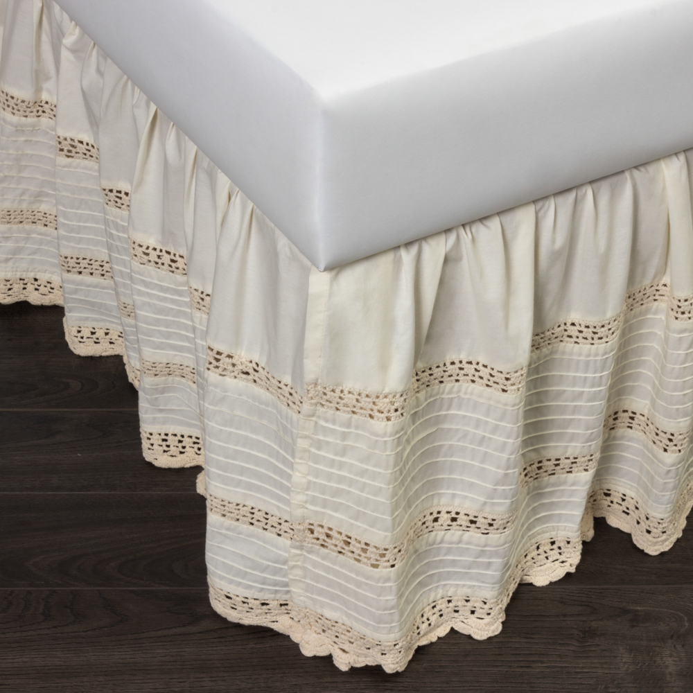 Image of: Classic Crochet Bed Skirt