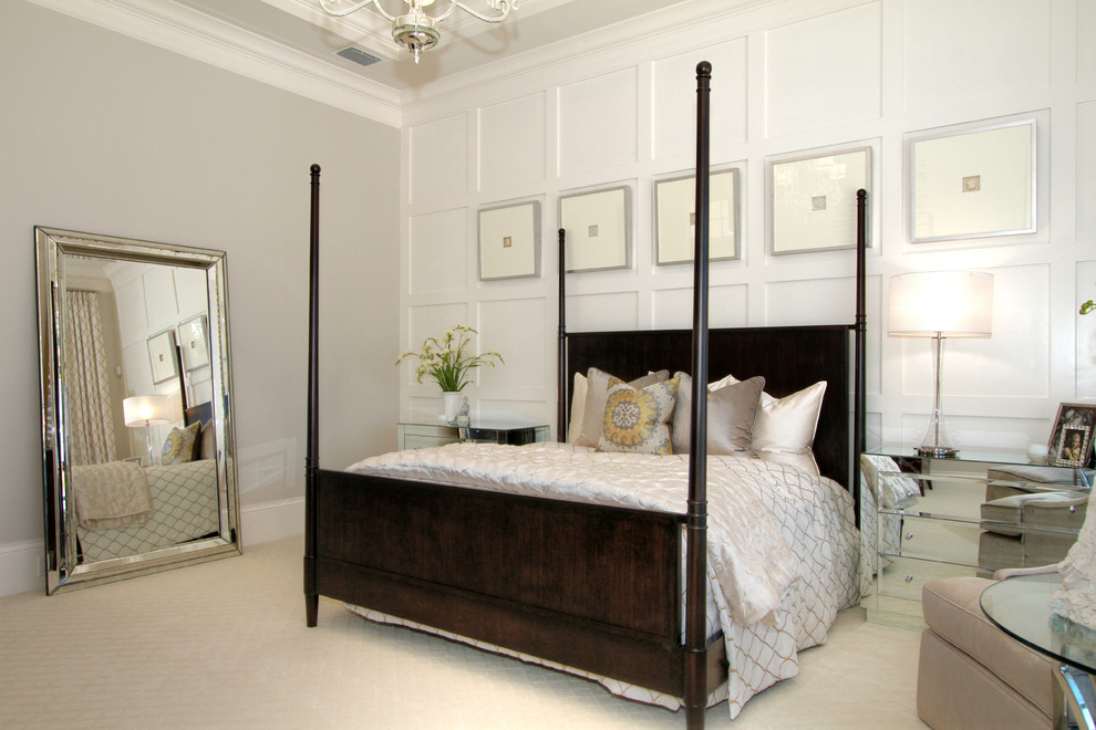 Image of: Clean White Wall Paneling