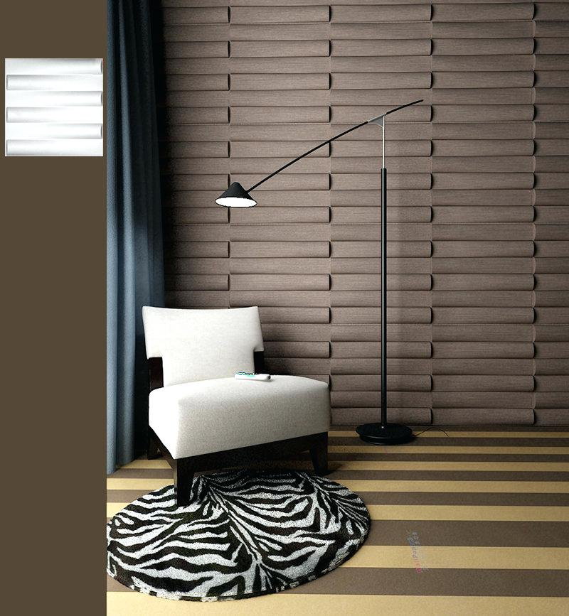 Image of: Colored Bamboo Wall Panels