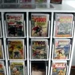 Comic Book Storage Ideas above Kitchen Cabinets