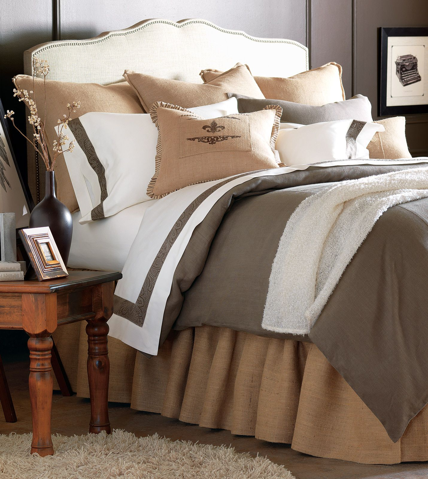 Image of: Cool Burlap Bed Skirt