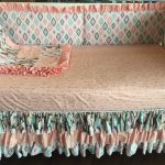 Coral Gold Bed Skirt
