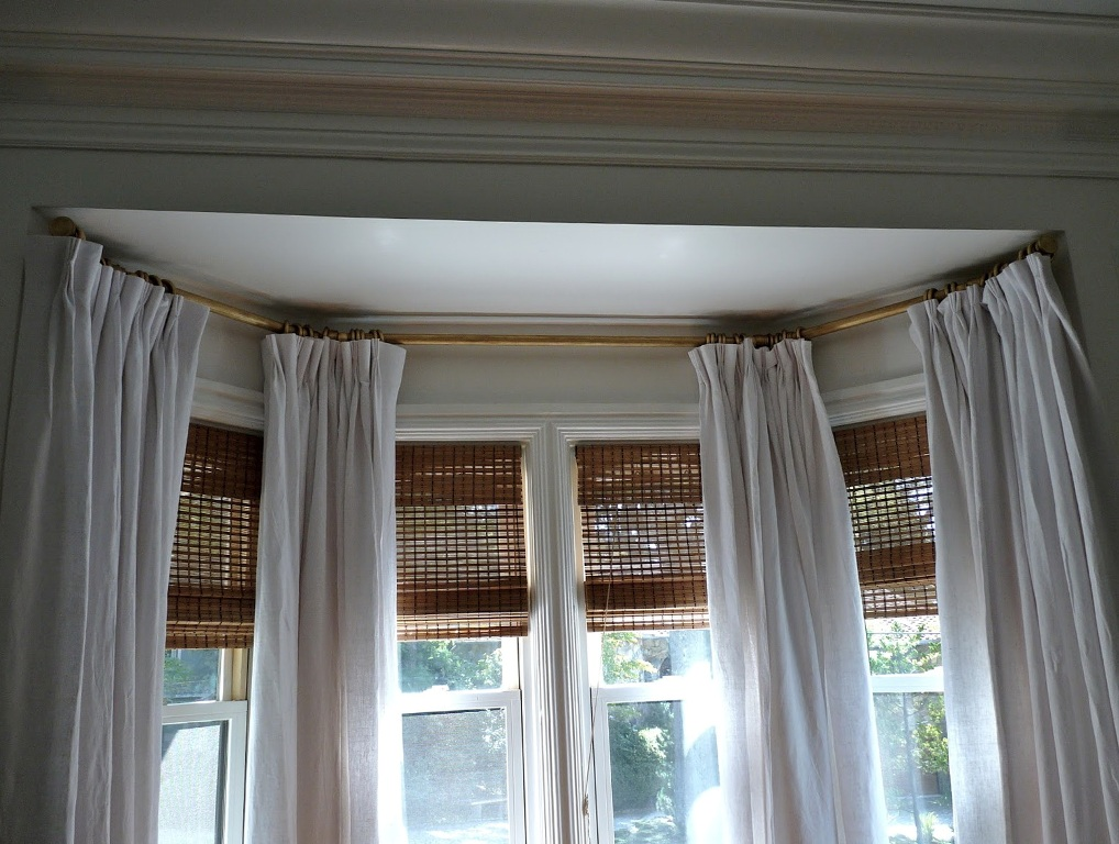 Image of: Corner Window Curtain Rod Contemporary