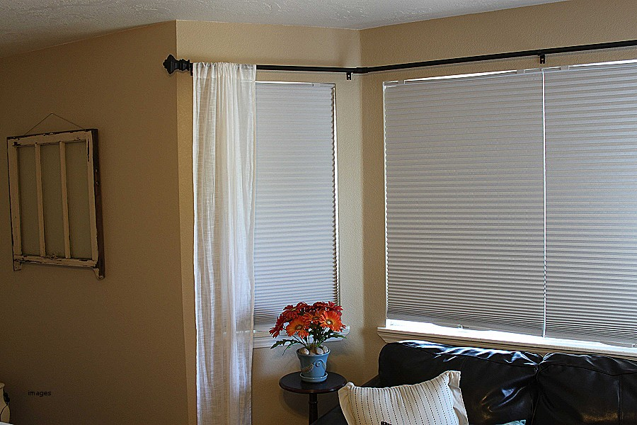 Image of: Corner Window Curtain Rod Installation
