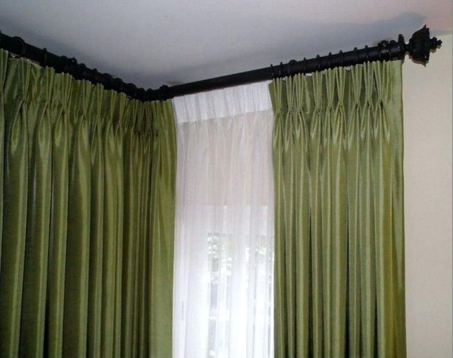 Corner Window Curtain Rod Set