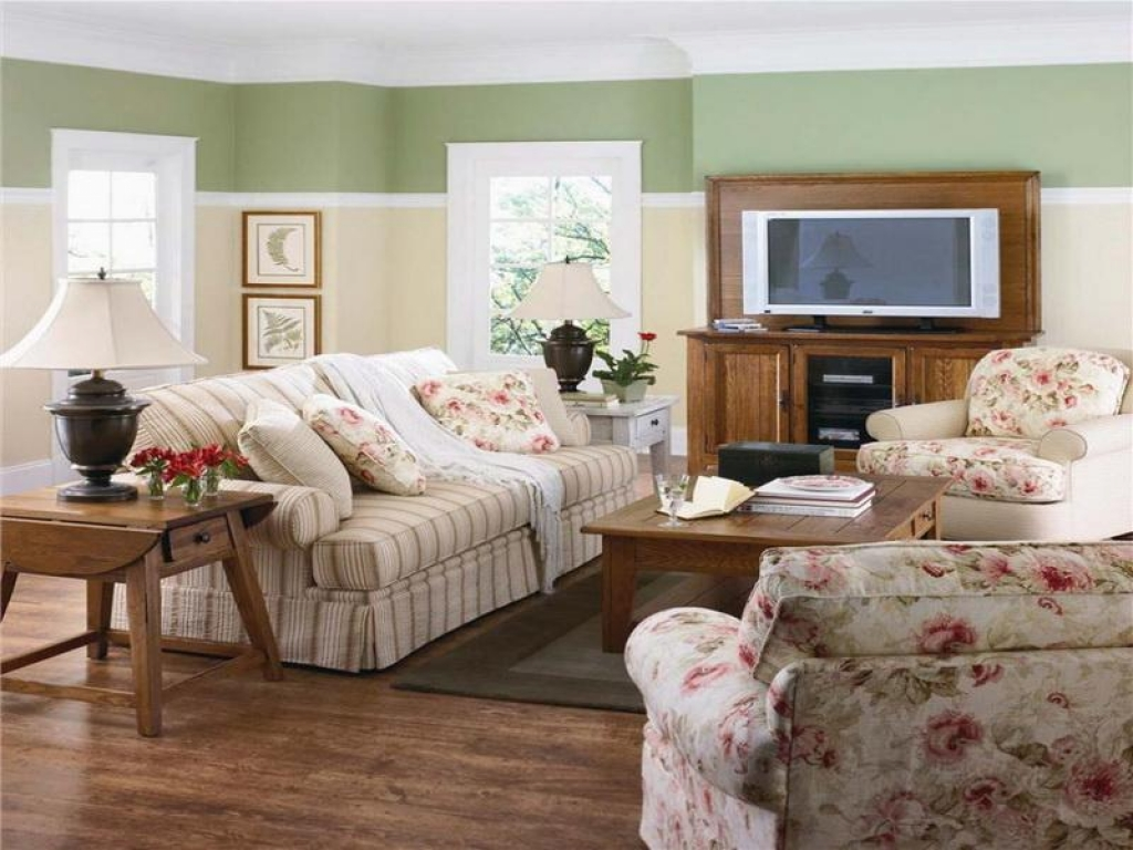 Image of: Country Living Room Border