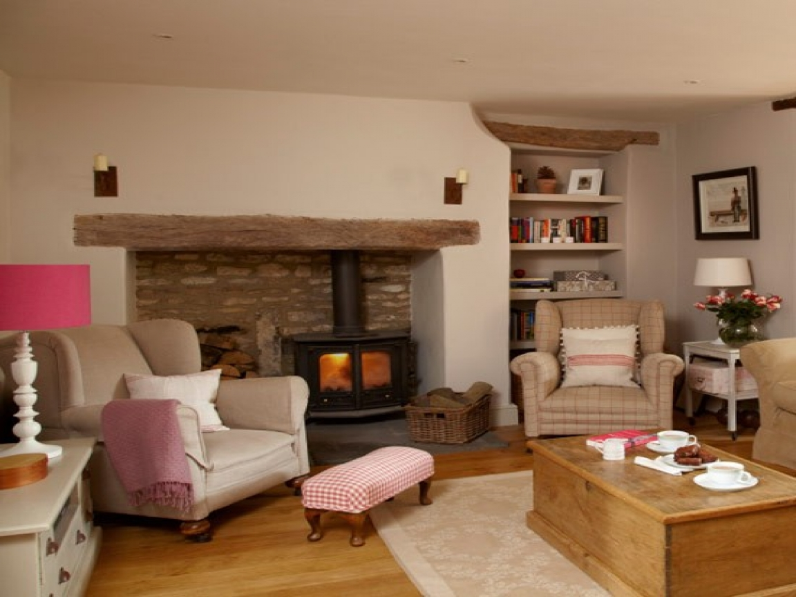 Image of: Country Living Room Cottage