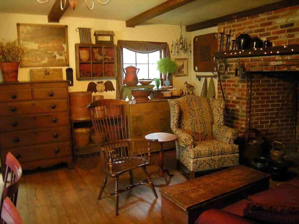 Image of: Country Living Room Ideas Classic